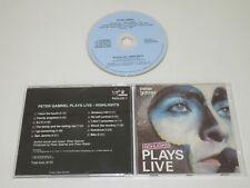 PETER GABRIEL/PLAYS LIVE HIGHLIGHTS(PGLCD 1) CD ALBUM