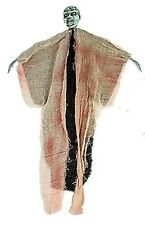 Halloween Decorations Scary Decor Hanging Zombie ~ Green Face