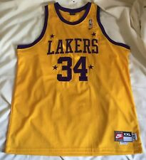 Vintage Men's Nike LA Lakers Shaquille O'Neal #34 SHAQ NBA Basketball Jersey 2XL