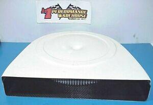 "NEW Crawford Composites White Carbon Fiber Cold Air Box & 16"" Element"