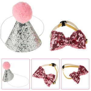 Cute Pet Cat Dog Birthday Caps Bowknot Party Costume Hat Bowknot Costume 2019