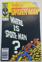 Web Of Spider-Man #18 Where Is Spider-Man? Marvel 1986 Brock Venom Book - FN