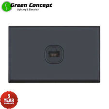 NEW Standard RJ11 Telephone Phone Socket Outlet Wall Plate Black