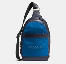 Coach Backpack - Nylon Navy Blue