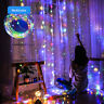 LED Curtain String Waterproof Fairy Light 8 Modes Party Wedding Decor Lamp USA