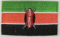 Kenia Aufnäher gestickt,Flagge Fahne,Patch,Aufbügler,6,5cm,neu