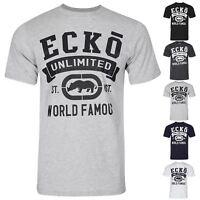 Mens Branded Ecko Unlimited World Famous Ex Zara Short Sleeve Tee T Shirt Top