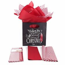 Christmas Tissue Paper For Gifts and Bags, 20 IN x 20 IN, 10 Sheets, Candy Cane