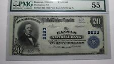 $20 1902 Kansas Illinois IL National Currency Bank Note Bill! Ch. #9293 AU55 PMG
