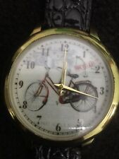 bicycle Quartz,38mm Case Unisex Watch Beautiful Grayish Color Face,new Battery.