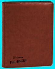 ULTRA PRO 9 POCKET PREMIUM LEATHERETTE BROWN BINDER STORAGE 360 Card 20 Pages