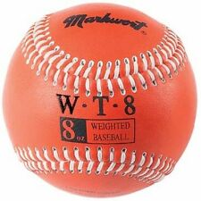 8 oz Ounce Weighted Strength Training Ball Pitcher Pitching Baseball Orange