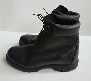 Timberland men's boots, genuine leather, black, waterproof, size 9.5W / EU44