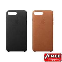 NEW 100% Genuine Apple OEM Soft Leather Case Cover iPhone 7 PLUS 8 PLUS Black