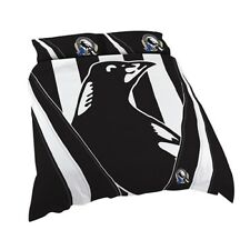 Collingwood Magpies 2018 AFL Quilt Cover Doona Pillowcase All Sizes Available Queen