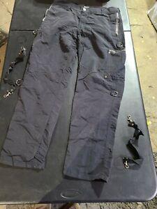 Vintage Dogpile Bondage Zipper Pants Size 34 Black Street Punk Skate Rock USA