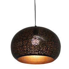 Hochwertig ORIENTLAMPE Orientalische Hängelampe Indische Lampe Muja Metal H 22cm ø 34cm