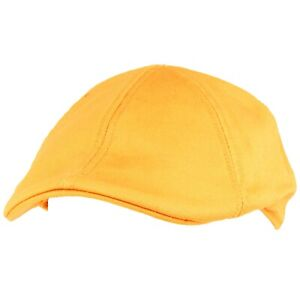 Men's 100% Cotton Duck Bill Flat Golf Ivy Driver Visor Cabbie Sun Cap Hat