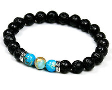 Men Ladies Yoga Reiki Natural Energy Stone Healing Bead Bracelet for Women UK