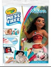 CRAYOLA COLOR WONDER FEATURING MOANA~INCLUDES 18 PAGES & 5 MARKERS~AGES 3+~NEW