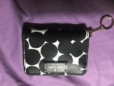 Kate Spade wallet white w/ black dots with  Key Fob Chain mint without tag
