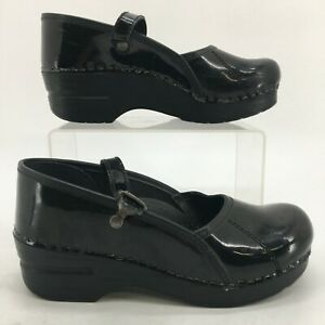 Dansko Marcelle Mary Jane Shoes Womens 35 Black Leather Casual Wedge 422020202