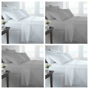 EGYPTIAN COTTON 200 THREAD 100% COUNT FITTED BED SHEET,Single-Double-King-S/King