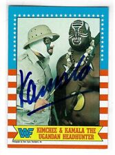 Kamala Signed 1987 Topps WWF Card #11 WWE