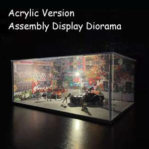 Diorama 1:64 Model Car Parking Lot Scenery LED Lighting - Acrylic Version