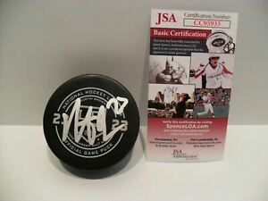 Dustin Brown Autographed Signed Los Angeles Kings 1000th GAME Puck JSA Cert COA