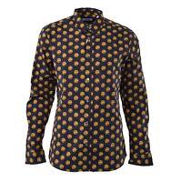 """MOSCHINO RUNWAY Hemd mit Aufdruck """"Knöpfe"""" Schwarz Gold Printed Shirt Black 0438"""