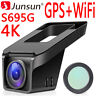 Junsun S695G 4K FHD 2160p GPS Autokamera Dashcam DVR Video Recorder Vehicle WiFi