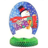 "Honeycomb 14"" Snowman Centrepiece Christmas Decoration - Winter Decorations"