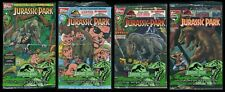 Jurassic Park Movie Adaptation Topps Comic Set 1-2-3-4 Polybags & Trading Cards