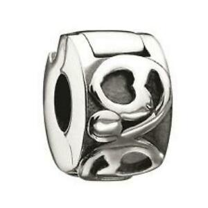 New Chamilia LOCKED HEARTS Sterling Silver Freedom LOCK Bead MB-26 $35 Retired