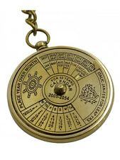 Brass 50 YEARS CALENDOR Key Chain- Collectible Marine Nautical Key Ring (3)