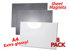 A4 Sheet Magnets | HQ Gloss Photo Paper | 8 Pack | 59094G