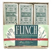 Vintage 1951 Flinch A Famous Card Game by Parker Brothers Complete with Box