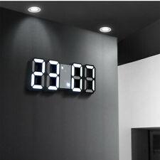 Moderno 3D Digitale Parete LED Tavolo Scrivania Orologio Luce Sveglia 12/24H