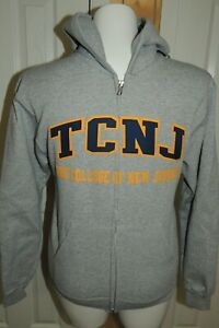 NEW ADULT CHAMPION TCNJ THE COLLEGE OF NEW JERSEY FULL ZIP SEWN SWEATSHIRT S $60