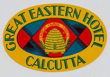 Great Eastern Hotel CALCUTTA India Bienen Bees Old Luggage Label Kofferaufkleber