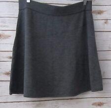 KRIMSON KLOVER Charcoal Gray Womens Stretch Merino Wool Knit Flare Skirt X-Large