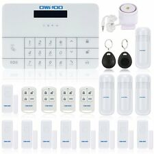 Wireless LCD GSM & SMS Home House Security Burglar Intruder Alarm System NEW