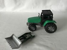 Plastic & Metal Tractor Toy Car & Poss Unrelated Hydraulic Shovel Made of Metal