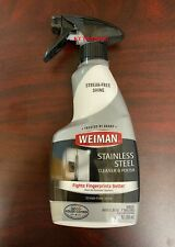 Weiman STAINLESS STEEL CLEANER & POLISH Clean Appliances Grill Ranges 12oz Spray