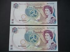 More details for a pair of isle of man £5 note uncirculated mint uncirculated 2013  m couch im44c