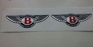 ****Bentley Chrysler high gloss gel domed badges****red/Black