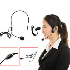 Universal Dual Ear Head Headset Mic Headworn Microphone For Wireless System