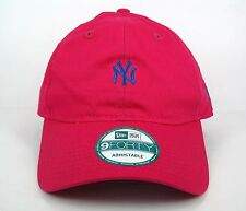 New Era Men's MLB New York Yankees Team Essential Summer Pink 940 Adjustable Cap