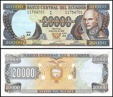 Ecuador 20,000 (20000) Sucres, 1999, P-129f, UNC, Series-AK